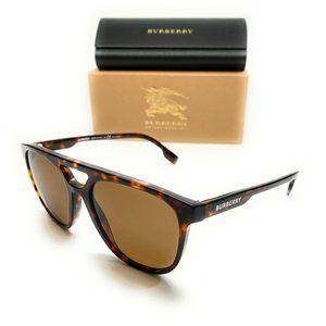 Burberry Men's Dark Havana Brown Sunglasses